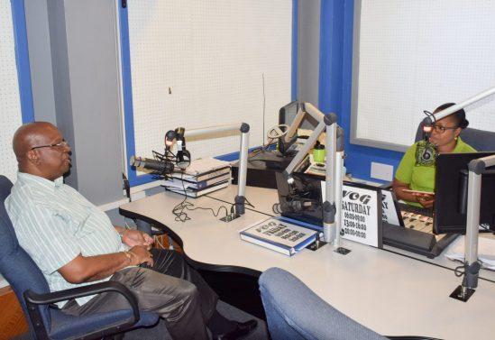 Minister of Finance, Hon. Winston Jordan on NCN's Insight Radio Programme on VOG