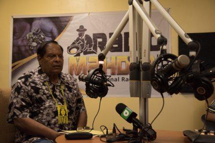Prime Minister, Hon. Moses Nagamootoo during his appearance on Radio Mahdia