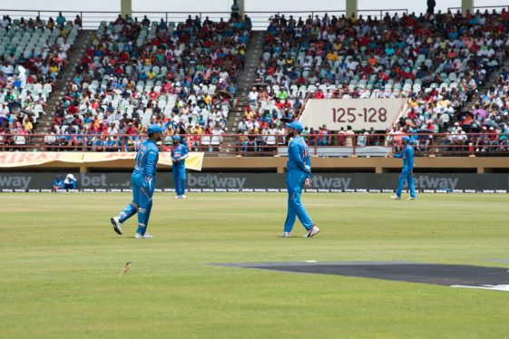Some of the action between West Indies and India
