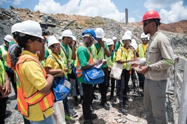 Youth in Natural Resources (YNR) Apprentices touring the mines at AGM.
