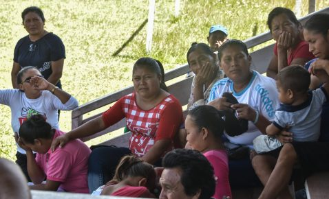 Waramadong residents during the community meeting