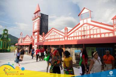 """The iconic Stabroek Market backdrop which forms part of the """"Streets of the Caribbean"""" display."""