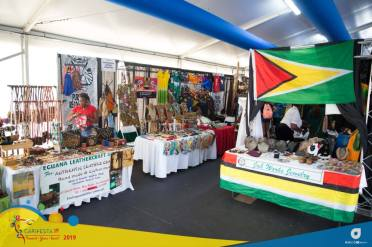 Some of booths displaying craft items from Guyana