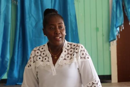 Minister within the Ministry of Agriculture, with responsibility for Rural Affairs, Valerie Adams-Yearwood addressing the residents of Ituni, Region 10.