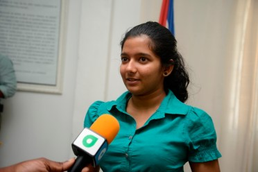 Jennifer Mahabir, a Scholarship Awardee.