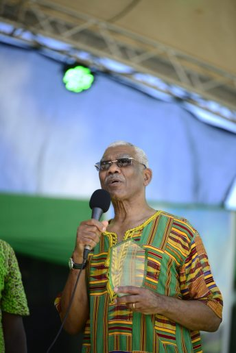 The Head of State was officially inducted as the patron of the Emancipation festival in Guyana