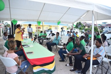 Some of those who attended the meeting to meet with the ministers.