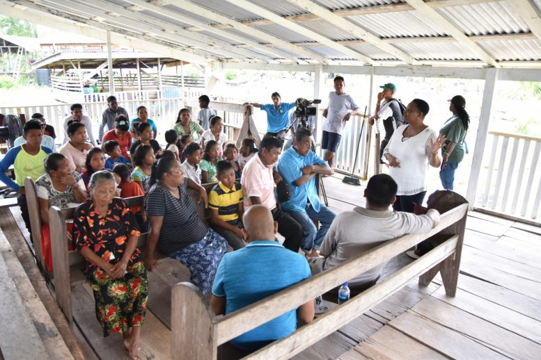 Minister of Public Health, Hon. Volda Lawrence engages Smith Creek residents