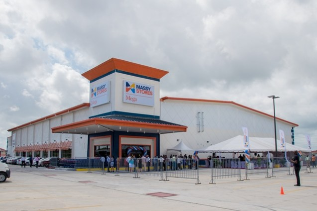 The Massy Mega Store located at the MovieTowne compound, Turkeyen, Greater Georgetown.