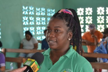 Crop Extension Officer for GMC, Dianna Dodson George