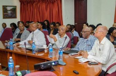 Attendees at the Foreign Service Institute's Lecture on Guyana's Maritime issues.