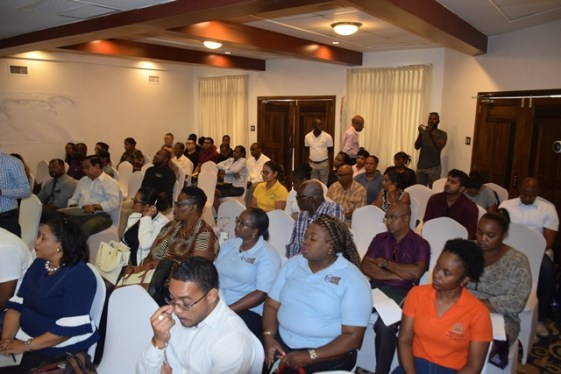 Some of the stakeholders gathered at the meeting.