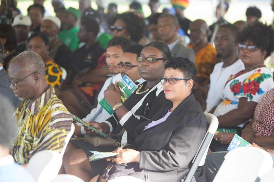 A section of the gathering at the sod turning ceremony at Parade Ground