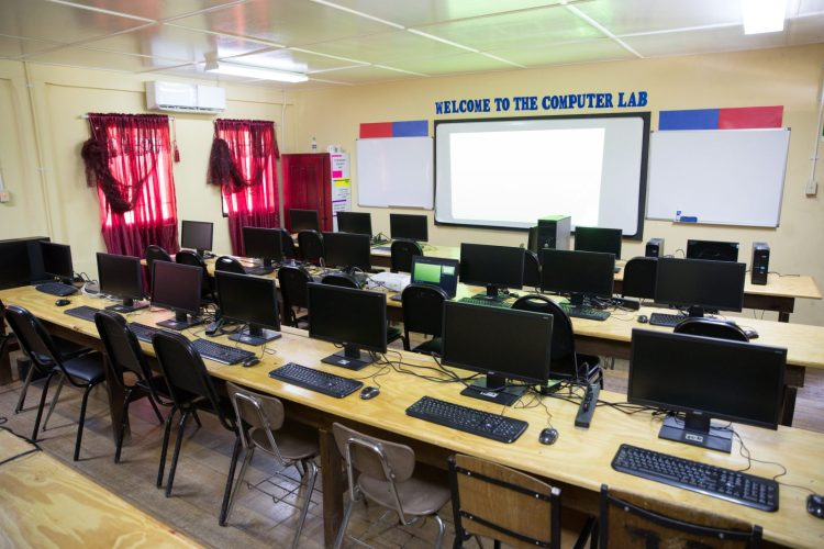 Information Technology Lab at the Golden Grove Secondary School.