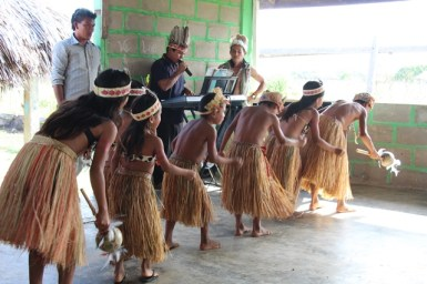 Some the children of Parishara performing a dance