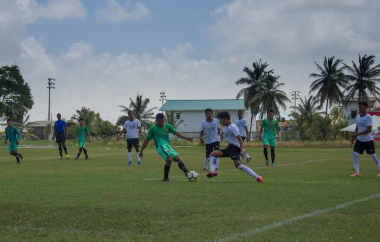 Some of the football action on Day one of the Heritage Games