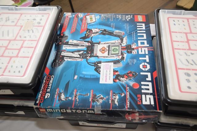 The robotics kits for the schools.