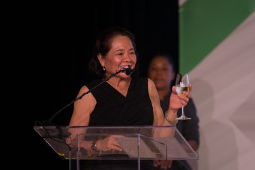 First Lady, H.E Sandra Granger, who was bestowed the honour of being the Godmother of Guyana's first Floating, Production, Storage and Offloading vessel (FPSO)