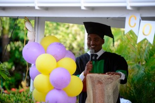 Damian Seeraj making his Valedictorian speech.
