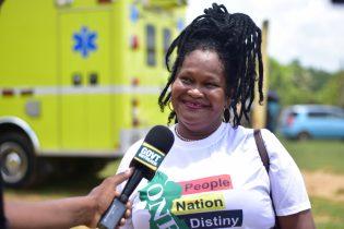 Resident of Port Kaituma, Evelyn Williams
