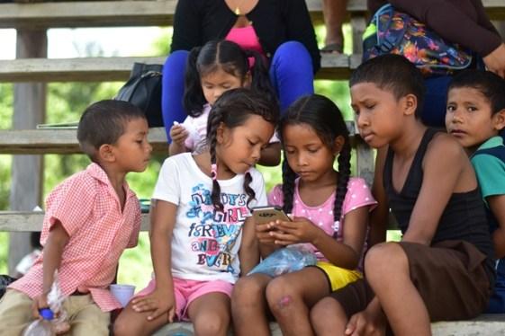Children of Fairview utlising the internet service