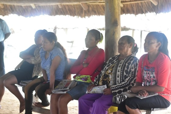 Some of the residents of Kumu at the community meeting