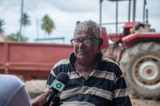 A farmer, Sasenarine Mahadeo.