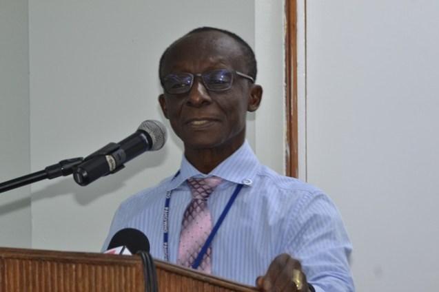 PAHO/WHO Country Representative to Guyana, Dr. William Adu-Krow.