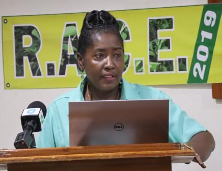 Minister within the Ministry of Agriculture, Hon. Valerie Adams-Yearwood