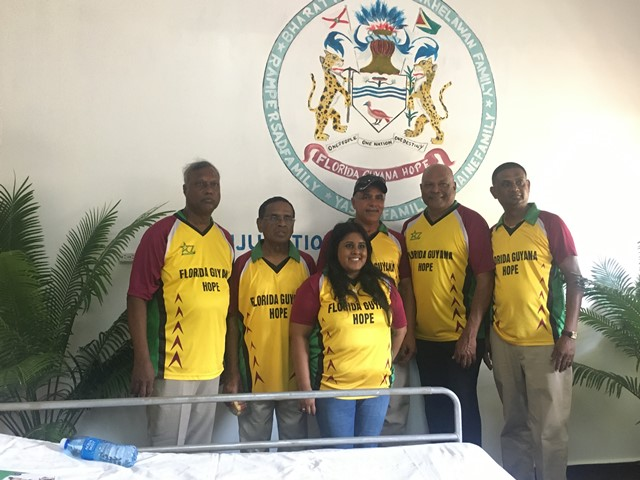 Members of the Florida Guyana Hope Inc. who contributed to the successful refurbishing of the Maternity Ward at the Skeldon Hospital.