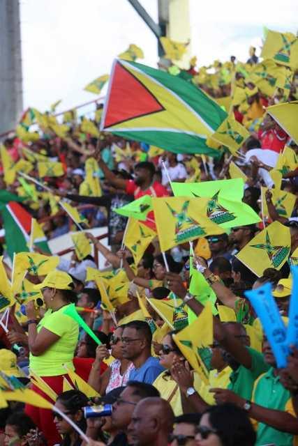 Guyana National Stadium packed to capacity in support of the Guyana Amazon Warriors.