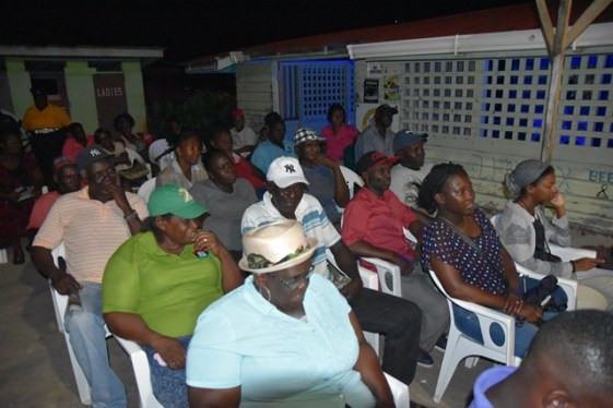 Some of the residents at the meeting.