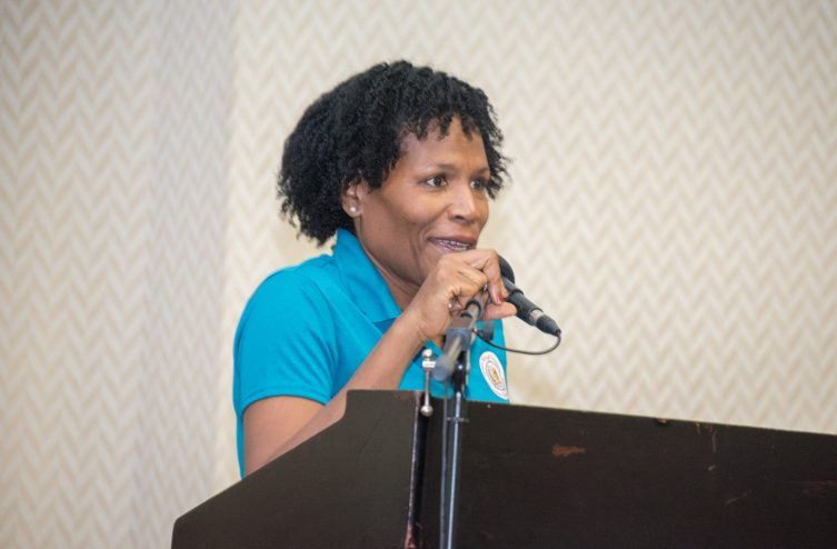 Director of the IHSE, Dr. Alexander Harvey, during her remarks at the 12th Annual Medical Research Conference, on Sunday.