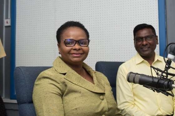 Minister of Public Health Volda Lawrence and Chief Medical Officer, Dr. Shamdeo Persaud in the NCN studio