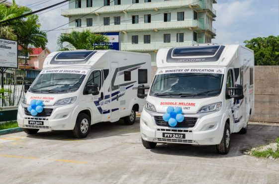 The two Mobile Psychosocial Units commissioned.