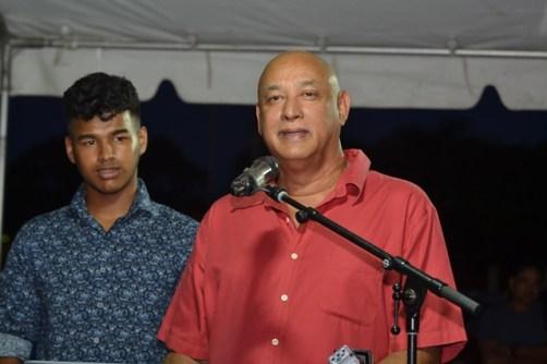 Ray Rahaman and his son Elan Rahaman, Organisers of the event.