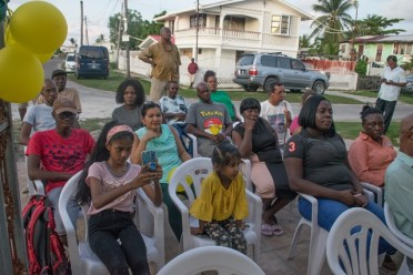 Some of the residents seated during the meeting.
