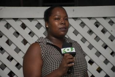 Small business entrepreneur, Tiffany Douglas at the meeting.