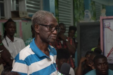 Wayne Fraser, the President of the Rainbow Generation Youth and Sports Club, Seafield, West Coast of Berbice.