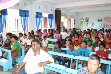A section of the audience who attended the community meeting
