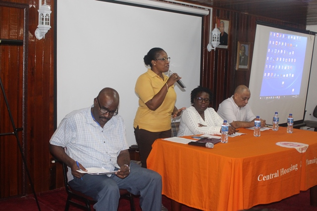 Director of Operations, Mrs. Denise King-Tudor addressing participants