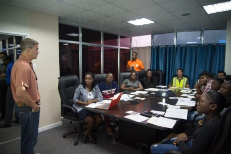 Sean Hill, General Manager of GYSBI addresses participants of the Occupational Safety and Health training.
