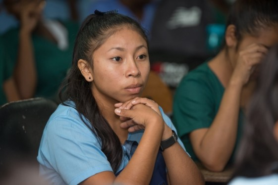 A student from the hinterland currently in training to return to her home and serve the health needs in the community.