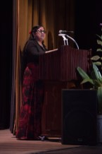 "Mrs. Sita Nagamootoo delivering remaks at ""Gloria"""