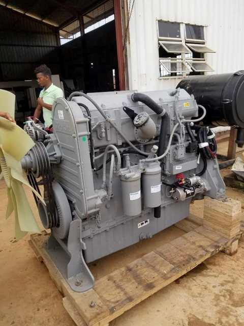 First replacement engine in front of the power station
