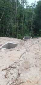 Engineering solutions using concrete, side drains and sedimentation boxes that were part of the project