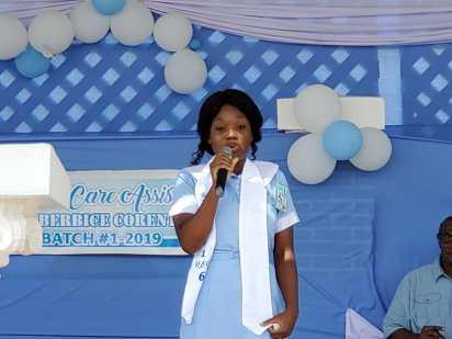 Oceana McBean-Clark giving her testimony