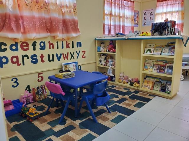 Child-friendly corner at the Mibicuri Health Centre.