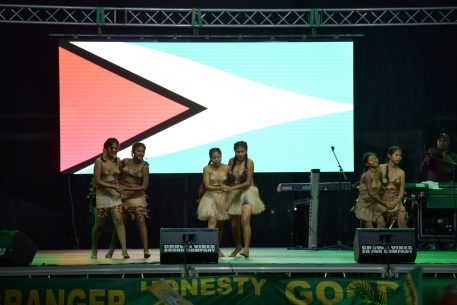 A cultural presentation at the launch on Friday