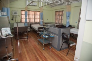 The renovated male and female wards.
